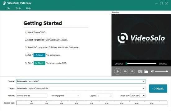 VideoSolo DVD Copy(DVD视频翻录助手)
